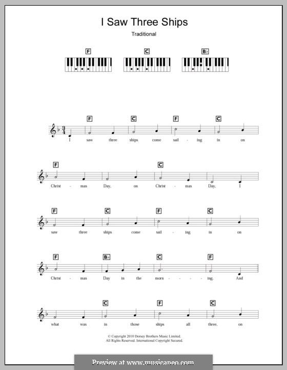 I Saw Three Ships: para teclado by folklore