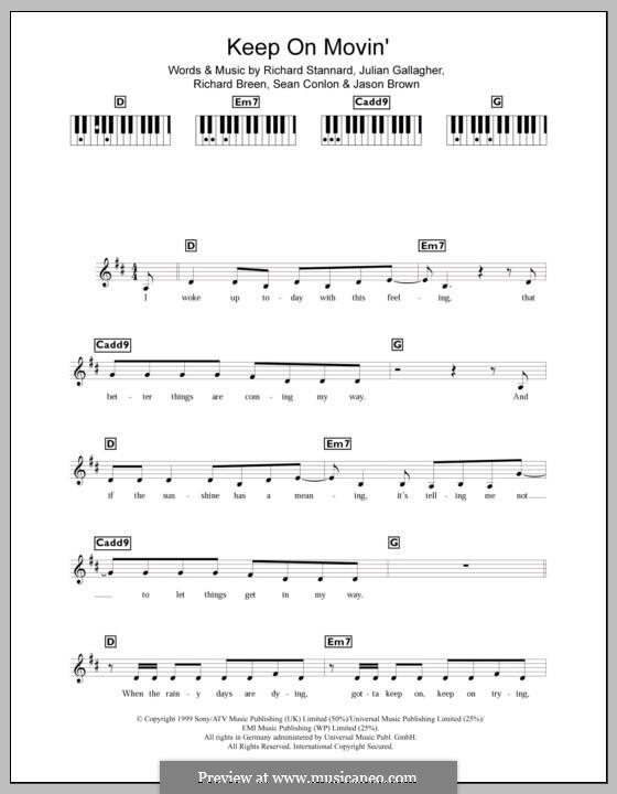 Keep on Movin' (Five): para teclado by Jason Brown, Julian Gallagher, Richard Breen, Richard Stannard, Sean Conlon
