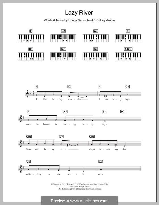 Lazy River (Bobby Darin): para teclado by Hoagy Carmichael, Sidney Arodin