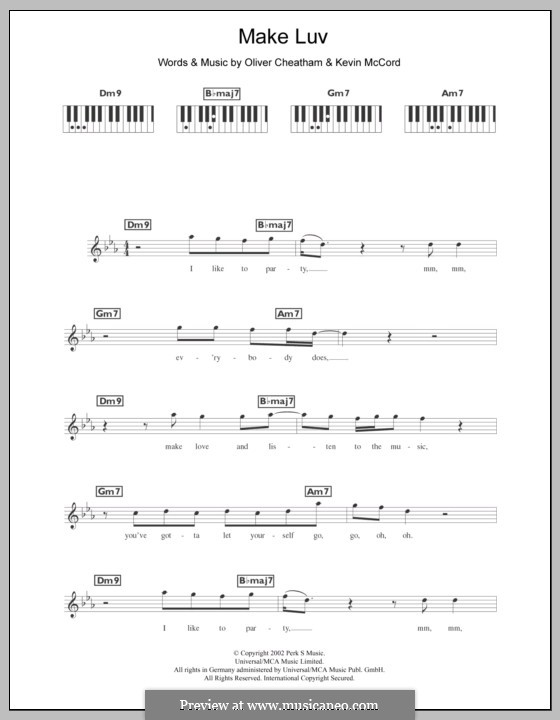 Make Luv (Room 5 Feat. Oliver Cheatham): para teclado by Kevin McCord, Oliver Cheatham