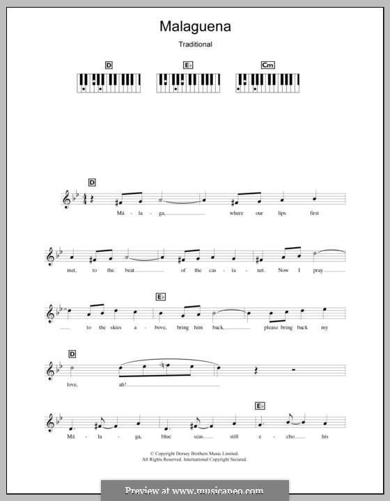 Malaguena: para teclado by folklore