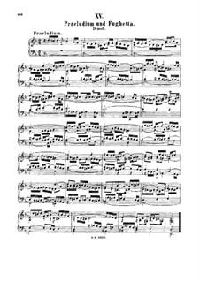 Prelude and Fughetta in D Minor, BWV 899: para cravo by Johann Sebastian Bach