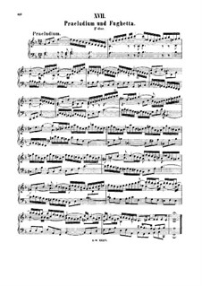 Prelude and Fughetta in F Major, BWV 901: para cravo by Johann Sebastian Bach
