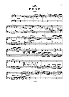 Prelude and Fugue in A Major, BWV 896: para cravo by Johann Sebastian Bach