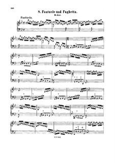 Fantasia and Fughetta in B Flat Major, BWV 907: para cravo by Johann Sebastian Bach