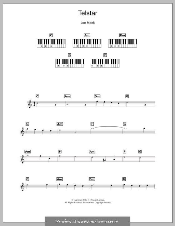 Telstar (The Tornados): para teclado by Joe Meek