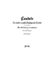 Was Gott tut, das ist wohlgetan, BWV 98: Partitura completa by Johann Sebastian Bach
