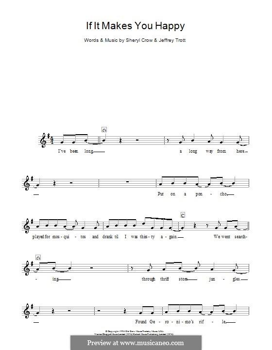 If It Makes You Happy: para teclado by Jeffrey Trott, Sheryl Crow