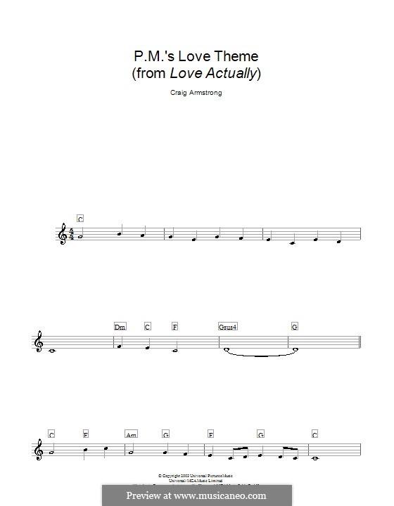 P.M.'s Love Theme (from Love Actually): melodía,letras e acordes by Craig Armstrong