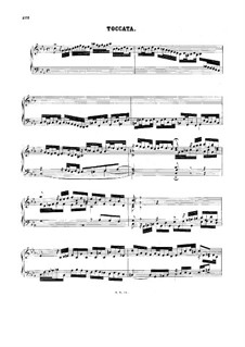 Toccata in C Minor, BWV 911: para cravo by Johann Sebastian Bach