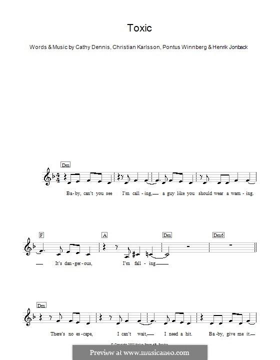 Toxic: para teclado by Cathy Dennis, Christian Karlsson, Henrik Jonback, Pontus Winnberg