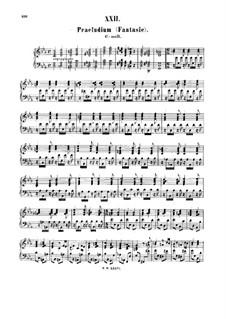 Prelude (Fantasia) in C Minor, BWV 921: para cravo by Johann Sebastian Bach