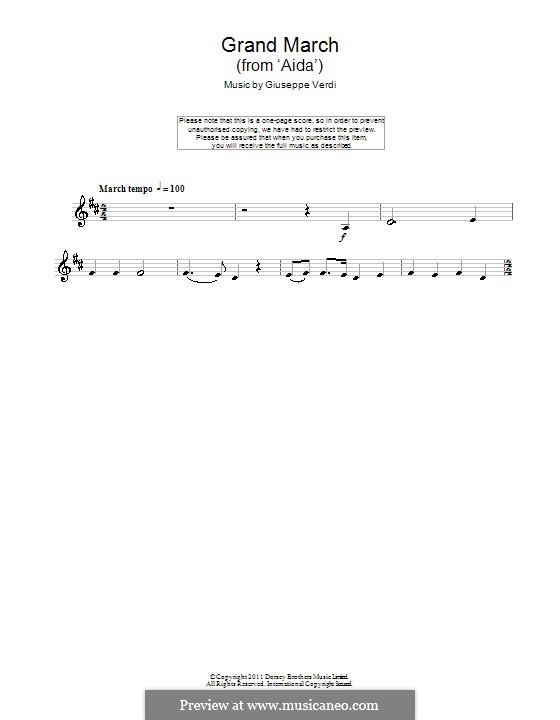 March: para clarinete by Giuseppe Verdi
