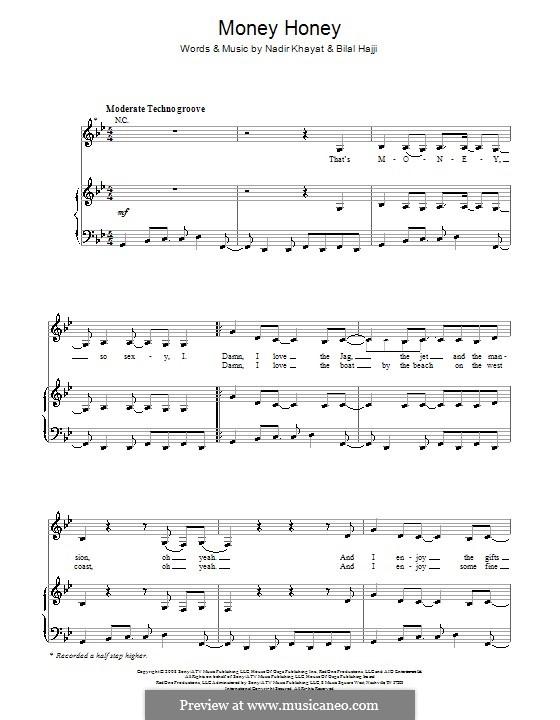 Money Honey (Lady Gaga): Para vocais e piano (ou Guitarra) by RedOne, Bilal Hajji, Stefani Germanotta