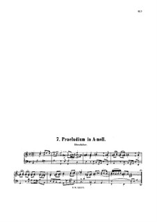 Little Prelude in A Minor, BWV 931: Little Prelude in A Minor by Johann Sebastian Bach