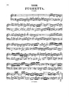 Fughetta in C Minor, BWV 961: para cravo by Johann Sebastian Bach