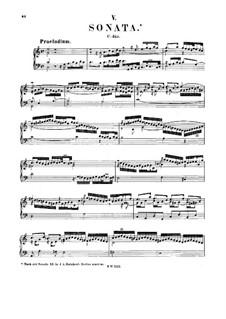 Sonata for Keyboard in C Major, BWV 966: para um único musico (Editado por H. Bulow) by Johann Sebastian Bach