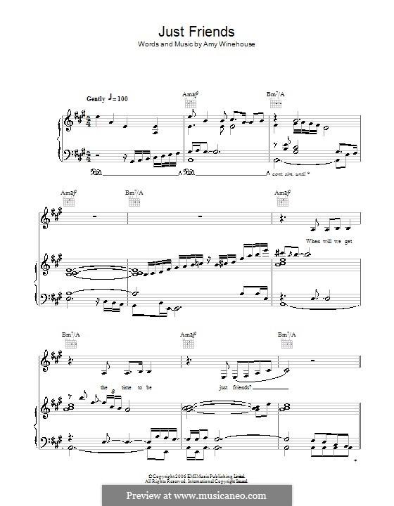 Just Friends: Para vocais e piano (ou Guitarra) by Amy Winehouse