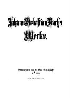 St Luke Passion, BWV 246: Partitura completa by Johann Sebastian Bach