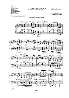 Pour le piano. Suite, L.95: No.2 Sarabande, for orchestra by Claude Debussy