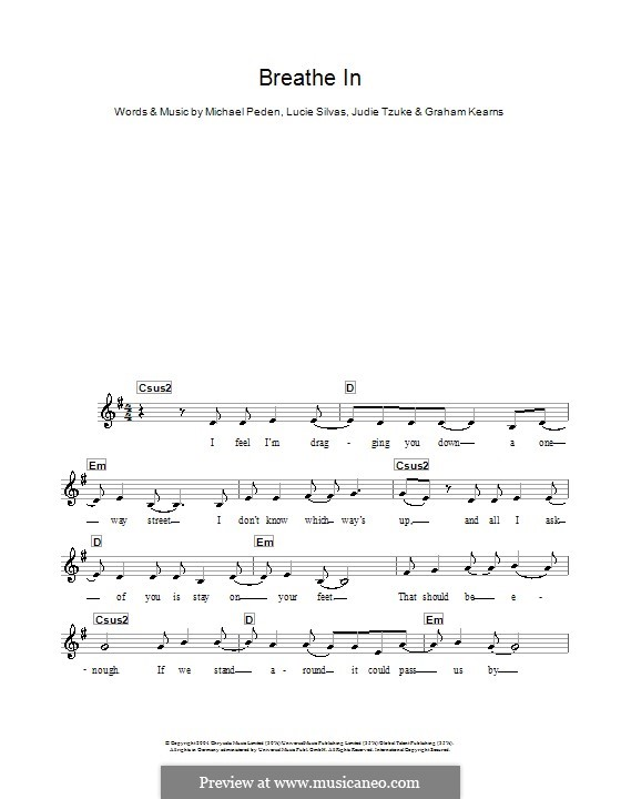 Breathe in: para teclado by Graham Kearns, Judie Tzuke, Lucie Silvas, Mike Peden