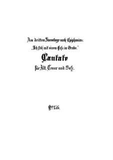 Ich steh mit einem Fuss im Grabe, BWV 156: Partitura completa by Johann Sebastian Bach