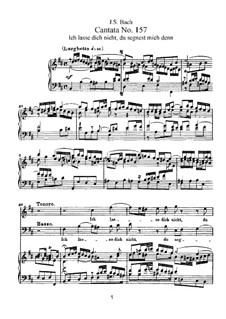 Ich lasse dich nicht, du segnest mich denn, BWV 157: Partitura piano-vocal by Johann Sebastian Bach