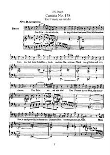 Der Friede sei mit dir, BWV 158: arranjos para vozes e piano by Johann Sebastian Bach
