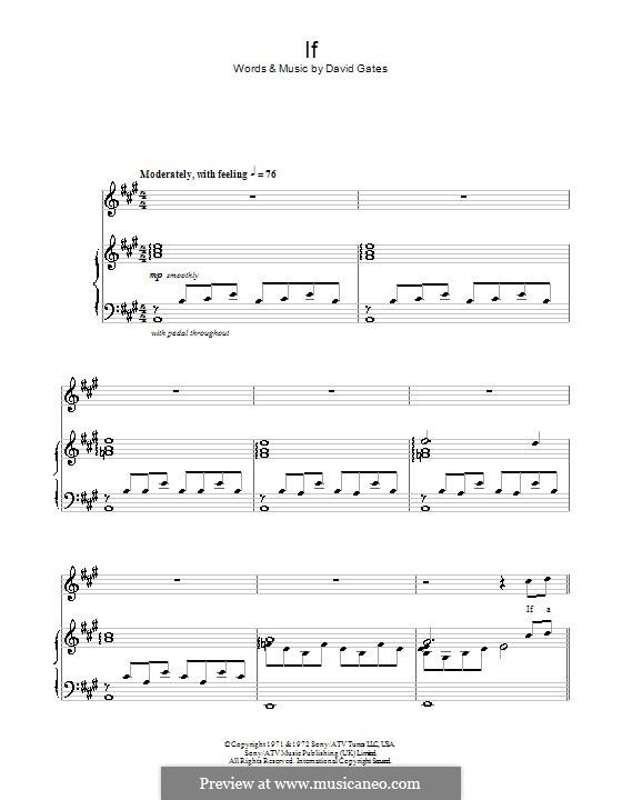 If (Bread): Para vocais e piano (ou Guitarra) by David Gates