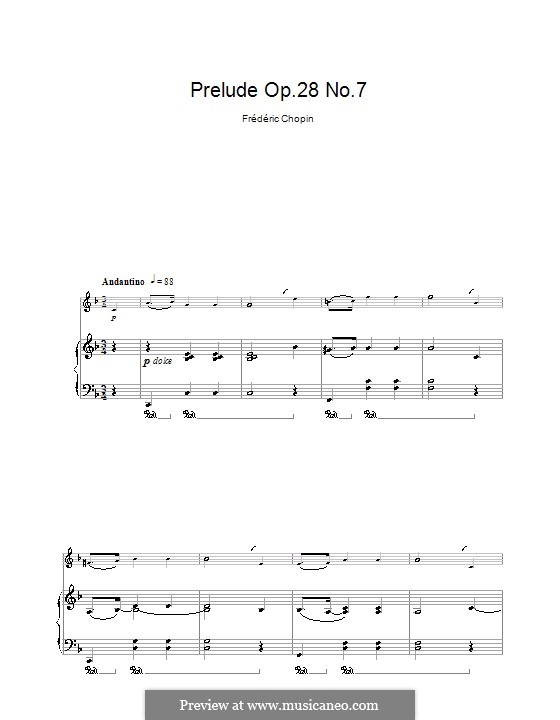 No.7 in A Major: para clarinete e piano by Frédéric Chopin