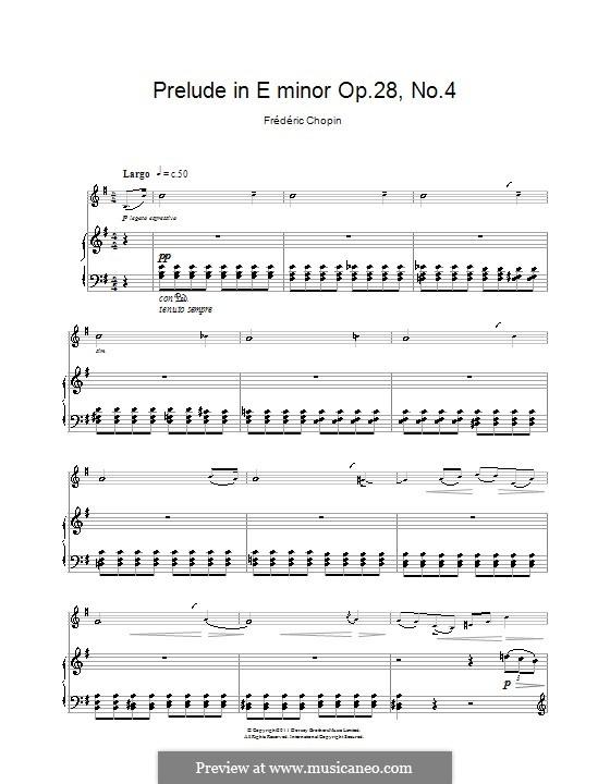 No.4 in E Minor: para clarinete e piano by Frédéric Chopin