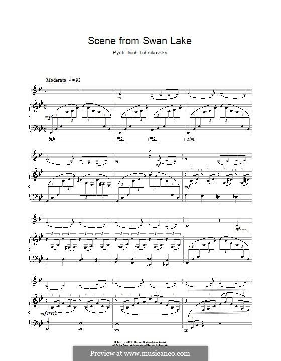 No.14 Scène: Arrangement for clarinet and piano (Theme) by Pyotr Tchaikovsky