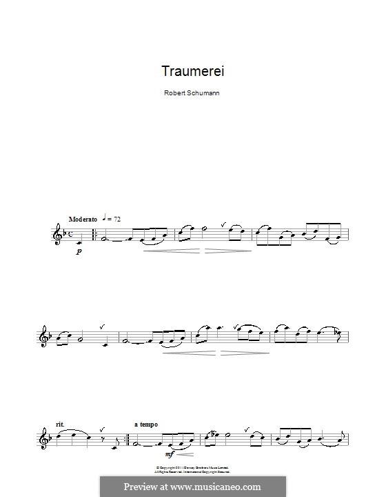 No.7 Träumerei (Dreaming): para clarinete by Robert Schumann