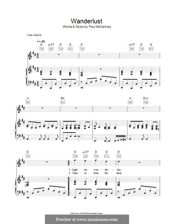 Wanderlust: Para vocais e piano (ou Guitarra) by Paul McCartney