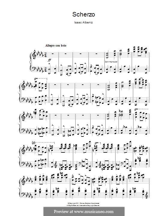 Scherzo: Scherzo by Isaac Albéniz