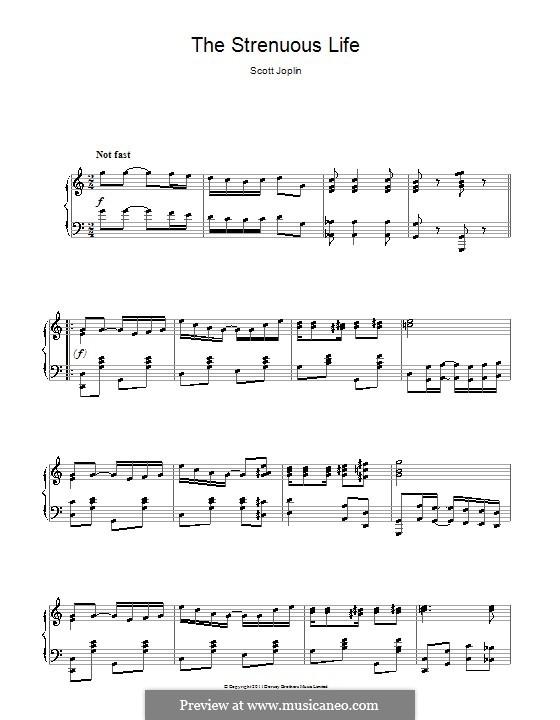 The Strenuous Life: Para Piano by Scott Joplin