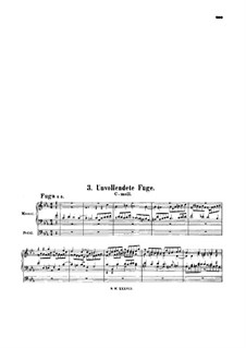 Fantasia and Fugue in C Minor, BWV 562: Unfinished Fugue by Johann Sebastian Bach
