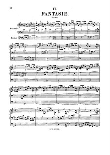 Fantasia in C Major, BWV 570: para orgãos by Johann Sebastian Bach