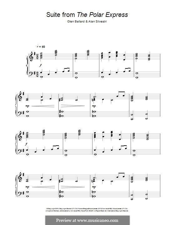 Suite (from The Polar Express): Para Piano by Alan Silvestri, Glen Ballard