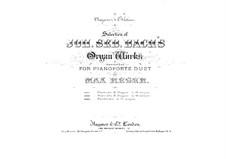 Fantasia in G Major, BWV 572: para piano de quadro mãos by Johann Sebastian Bach