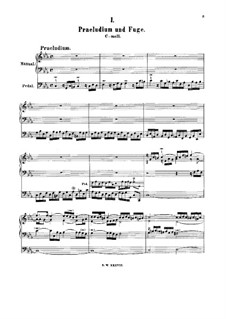 Prelude and Fugue in C Minor, BWV 549: para orgãos by Johann Sebastian Bach