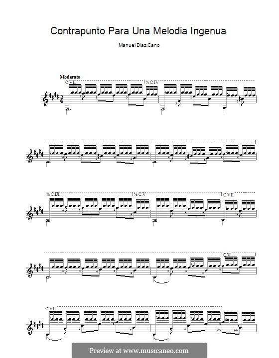 Contrapunto para una melodia ingenua: Contrapunto para una melodia ingenua by Manuel Diaz Cano
