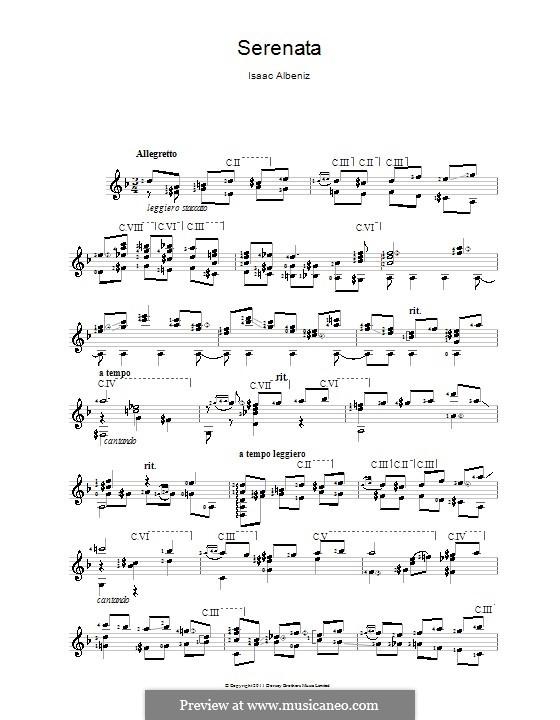 No.4 Serenade: Para Guitarra by Isaac Albéniz