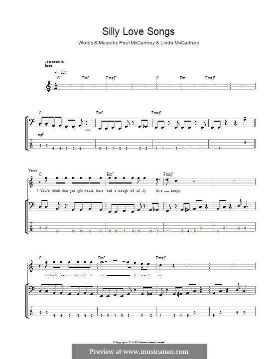Silly Love Songs (Wings): para baixo com guia by Linda McCartney, Paul McCartney