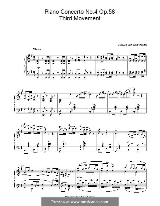 Fragments: Movimento III. Versão para piano by Ludwig van Beethoven
