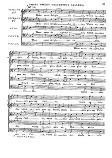 The First Set of English Madrigales: Part III, for five voices by Thomas Bateson