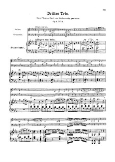 Three Piano Trios, Op.1: trio No. 3 by Ludwig van Beethoven