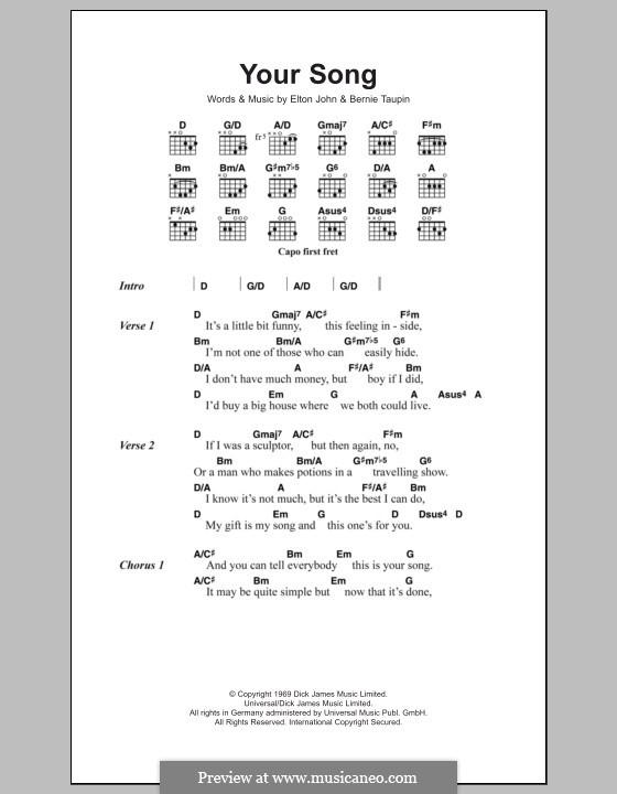 Your Song: Letras e Acordes by Elton John