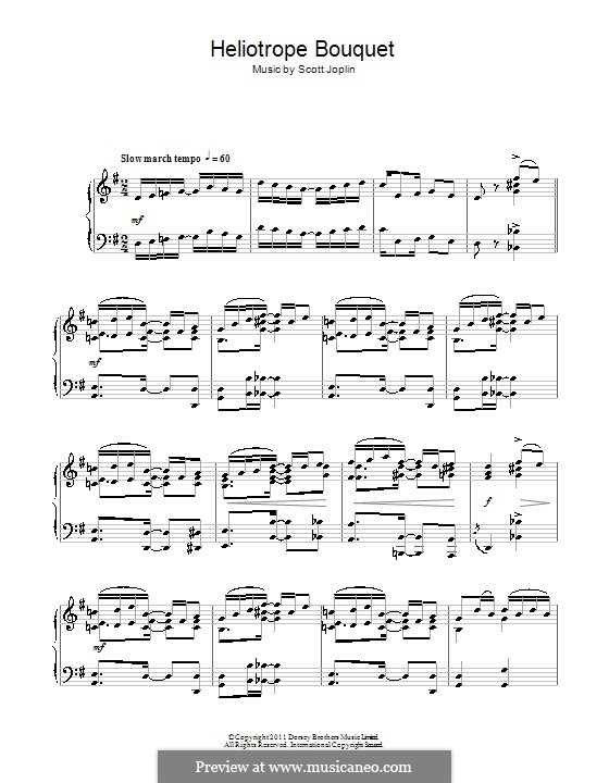 Heliotrope Bouquet: Para Piano by Scott Joplin, Louis Chauvin