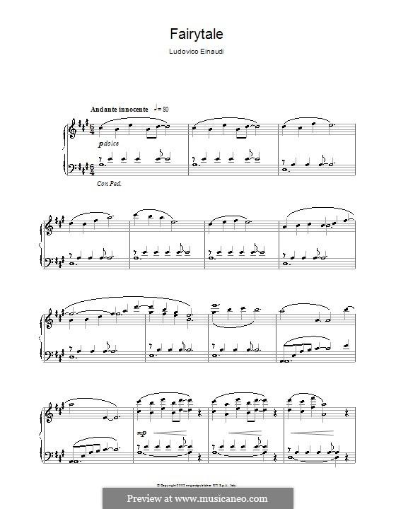 Fairytale: Para Piano by Ludovico Einaudi